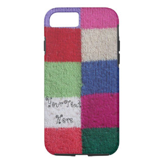 vintage style colorful knitted patchwork design iPhone 8/7 case