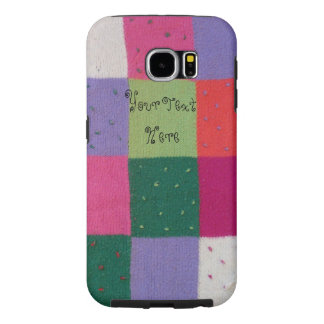 vintage style colorful knitted patchwork design samsung galaxy s6 case