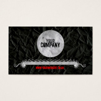 Vintage Style Crumpled Paper Business Card v2
