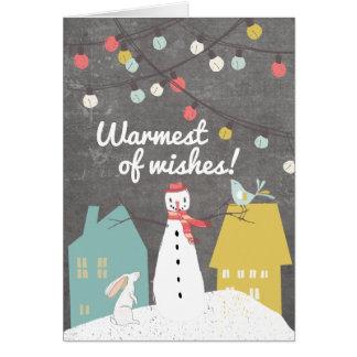 Vintage Style Custom Christmas Holiday Greeting Card