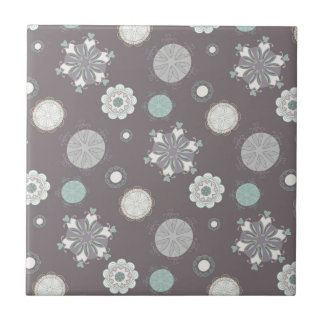 Vintage Style Customizable Pattern Small Square Tile