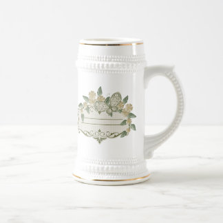 Vintage Style Decorative Butterfly Label Beer Stein