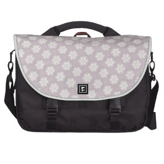 Vintage Style Dusty Rose Geometric Pattern Laptop Messenger Bag