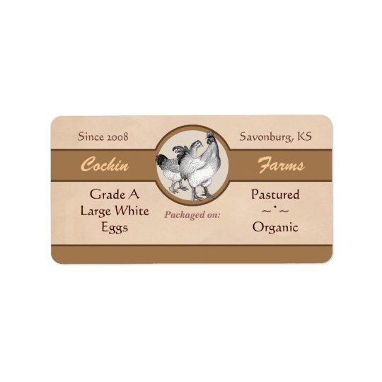 egg carton labels template - vintage style egg carton label zazzle