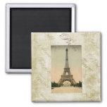 Vintage Style Eiffel Tower Art Magnet