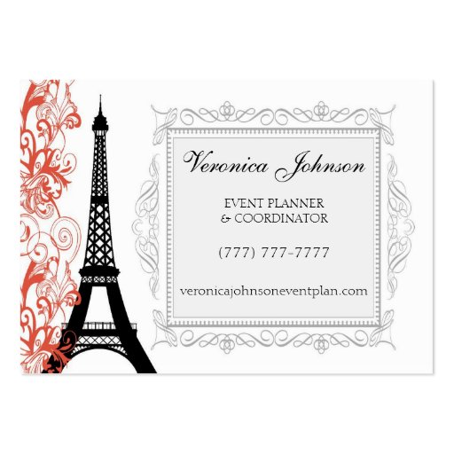 Vintage Style Eiffel Tower Paris Business Card