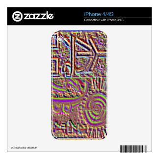 VINTAGE Style Engraved Healing Art Decals For The iPhone 4