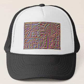 VINTAGE Style Engraved Healing Art Trucker Hat