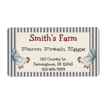 Vintage Style Farm Fresh Eggs Chickens Label