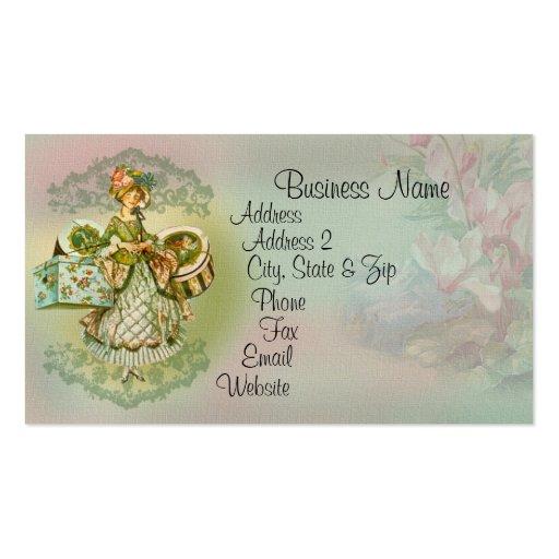 Vintage style fashion illustration business card zazzle for Business cards vintage style