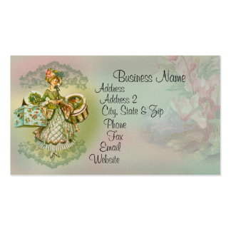 Vintage Style Fashion Illustration Business Card