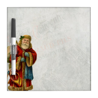 Vintage Style Father Christmas Santa Claus Dry-Erase Board