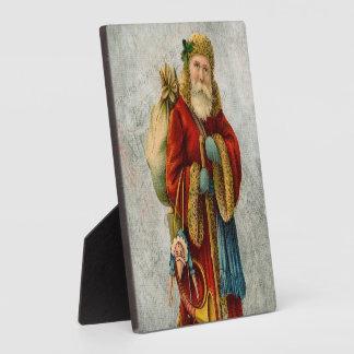 Vintage Style Father Christmas Santa Claus Plaque