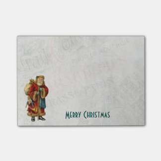 Vintage Style Father Christmas Santa Claus Post-it Notes