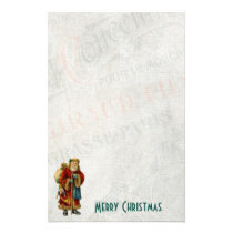 Vintage Style Father Christmas Santa Claus Stationery