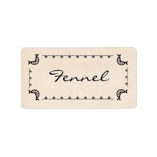 Vintage-Style Fennel Labels