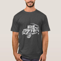 Vintage Style Fire Truck T-Shirt