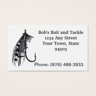 Vintage Style Fishing Business Business Card