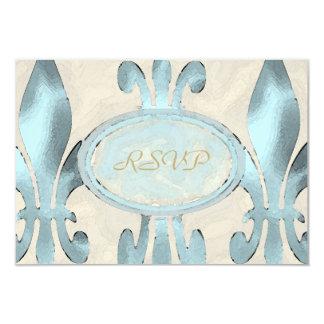 Vintage Style Fleur de Lis RSVP Card