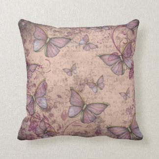 Vintage Style Floral and Butterflies Pillow