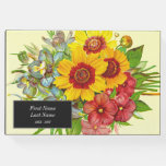 [ Thumbnail: Vintage Style Floral Funeral Remembrance Guestbook ]