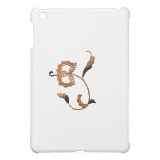 Vintage Style Floral Motif in Beige Brown iPad Mini Covers