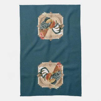 Vintage Style French Country Rustic Barn Rooster Hand Towel