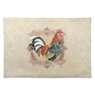 Vintage Style French Country Rustic Barn Rooster Placemat