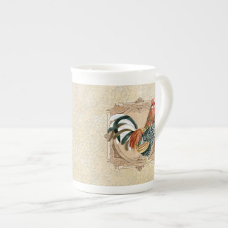 Vintage Style French Country Rustic Barn Rooster Tea Cup