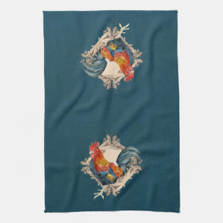 Vintage Style French Country Rustic Barn Rooster Towel