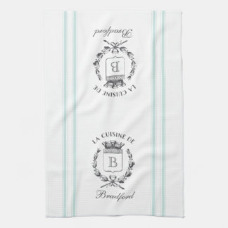 Vintage Style French Sack Custom Name and Monogram Towel