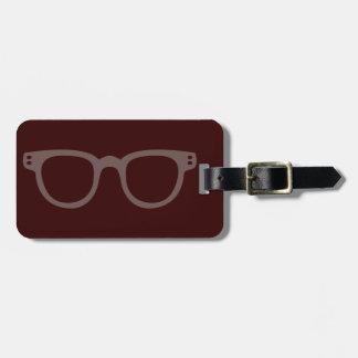 vintage style glasses bag tag