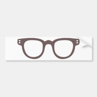 vintage style glasses bumper sticker