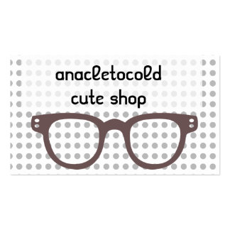 vintage style glasses business card