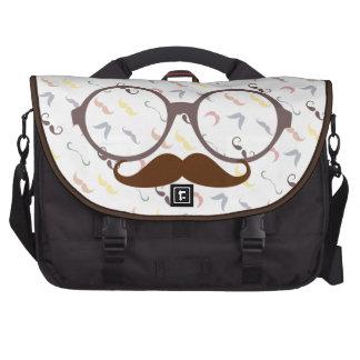 vintage style glasses commuter bag