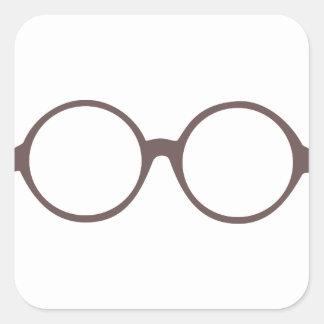 vintage style glasses square sticker