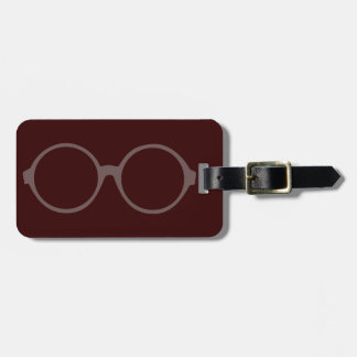 vintage style glasses tag for luggage