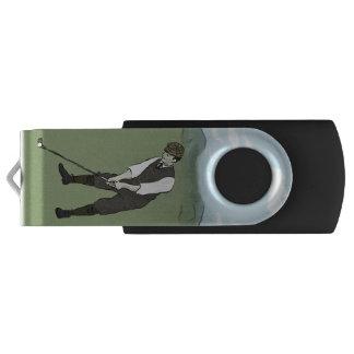 Vintage Style golf art Swivel USB 2.0 Flash Drive