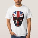 vintage style gothic skull with union jack shirt