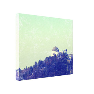 Vintage Style Griffith Observatory 2 Canvas Print