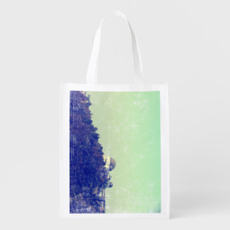Vintage Style Griffith Observatory 2 Grocery Bag