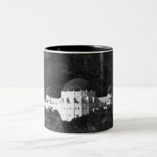 Vintage Style Griffith Observatory 3 Two-Tone Coffee Mug