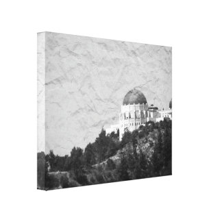 Vintage Style Griffith Observatory Canvas Print