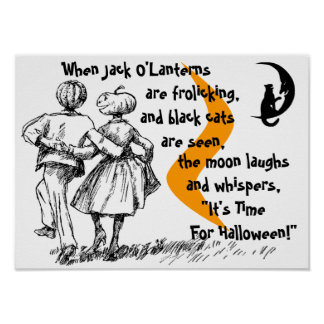 Vintage Style Halloween Poster anthropomorphic JOL