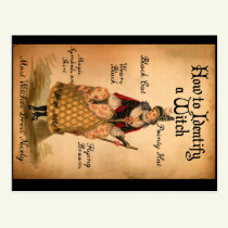 Vintage Style Halloween Witch I.D. Postcard