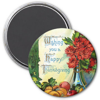 Vintage Style Happy Thanksgiving Magnet