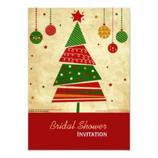 Vintage Style Holiday Bridal Shower Invitation