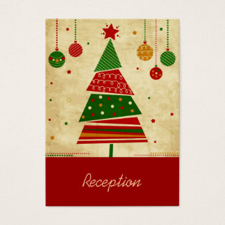 Vintage Style Holiday Reception Card