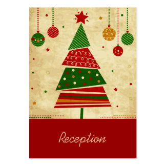 Vintage Style Holiday Reception Card Business Card Template