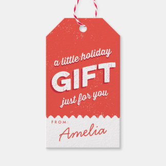 Vintage Style Holiday red and white Gift Tags